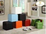 Storage Cube Ottoman, Red Bi-Cast Vinyl Product Image