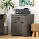Printer Cabinet with Drawer - Gray Maple Product Image