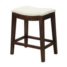 "Emerald Home Rancho Barstool 24"" Beige Seat W/ Brown Legs D50-27-09"