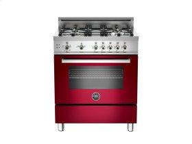 30 4-Burner, Gas Oven Burgundy