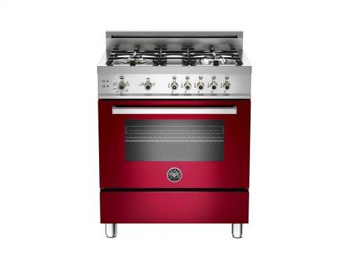 30 4-Burner, Gas Oven Burgundy