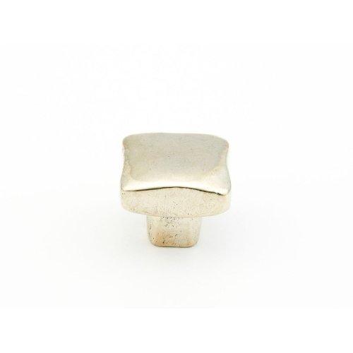"Vinci, Square Knob, Polished White Bronze, 1"" dia"