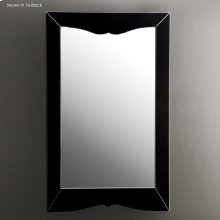 "Wall-mount mirror in wooden frame, 26 3/4""W, 43 1/4""H"