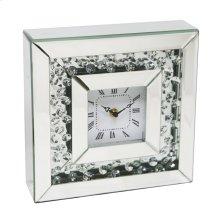 "Square Mirrored/diamond Clock 10"""