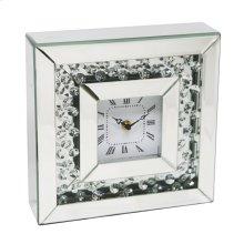 Square Mirrored/diamond Clock 10""