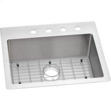"""Elkay Crosstown Stainless Steel 25"""" x 22"""" x 9"""", Single Bowl Dual Mount Sink Kit"""