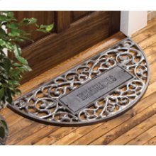 Personalized Filigree Arch Mat French Bronze