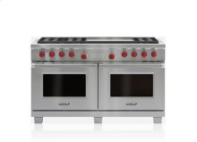 """60"""" Dual Fuel Range - 6 Burners and Infrared Dual Griddle"""