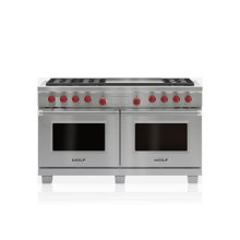 "60"" Dual Fuel Range - 6 Burners and Infrared Dual Griddle"