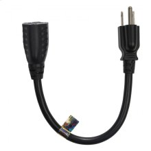 """13 amp 12"""" extension cable"""
