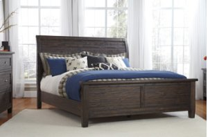 Queen Sleigh Bed w/ Panel Footboard
