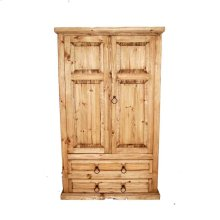 Pocket Door S.g Armoire W/star With Star