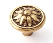 Fiore Knob A1472 - Polished Antique