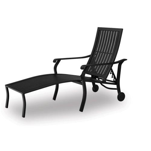 Cadiz Cast Aluminum Coordinate Aluminum Arm Chaise w/ Wheels
