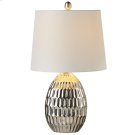 Matte Silver Honeycomb Table Lamp. 60W Max. Product Image