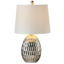Matte Silver Honeycomb Table Lamp. 60W Max.