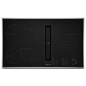 "Euro-Style 36"" JX3 Electric Downdraft Cooktop with Glass-Touch Electronic Controls"