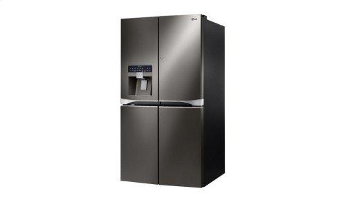 """36"""" Black Stainless Steel French Door Refrigerator With Door-in-door®, 30 CU.FT."""