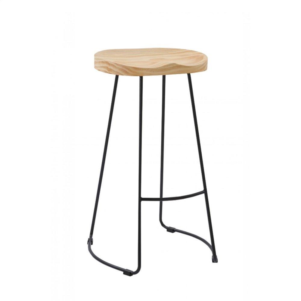 Modrest Barnes Modern Wood Top Bar Stool (Set of 2)