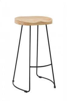 Modrest Barnes Modern Wood Top Bar Stool (Set of 2)