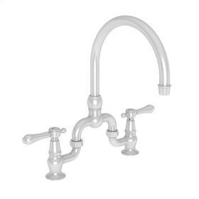 White Kitchen Bridge Faucet