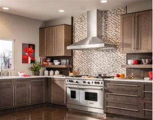 """Colonne - 42"""" Stainless Steel Chimney Range Hood with iQ6 Blower System, 600 CFM"""