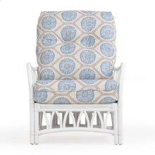 Rattan Lounge Chair in White 8801