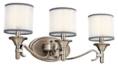 Lacey 3 Light Vanity Light Antique Pewter