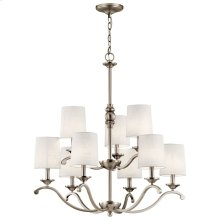 Versailles 9 Light Chandelier Antique Pewter