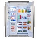 "Professional Built-In 48"" Side-by-Side Refrigerator Freezer - Marvel Professional Built-In 48"" Side-by-Side Refrigerator Freezer - Stainless Steel Doors, Slim Designer Handles Product Image"