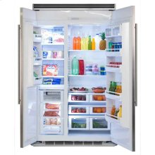 "Professional Built-In 48"" Side-by-Side Refrigerator Freezer - Marvel Professional Built-In 48"" Side-by-Side Refrigerator Freezer - Stainless Steel Doors, Slim Designer Handles"