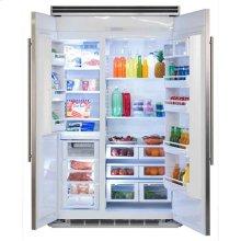 """Professional Built-In 48"""" Side-by-Side Refrigerator Freezer - Marvel Professional Built-In 48"""" Side-by-Side Refrigerator Freezer - Stainless Steel Doors, Slim Designer Handles"""