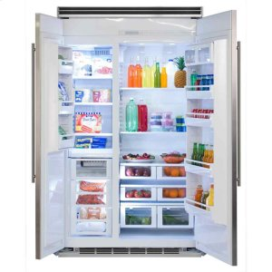 "MarvelProfessional Built-In 48"" Side-by-Side Refrigerator Freezer - Marvel Professional Built-In 48"" Side-by-Side Refrigerator Freezer - Panel-Ready Overlay Doors*"