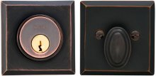 Rectangular Auxiliary Deadbolt Kit in (TB Tuscan Bronze, Lacquered)