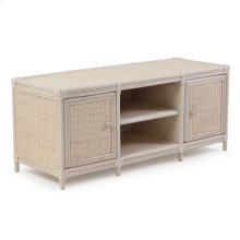 Rattan Flat Panel TV Stand 4471 Whitewash