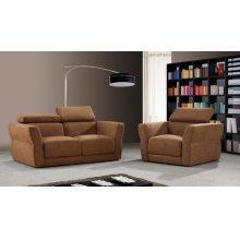 Divani Casa 0826A Modern Brown Fabric Sofa Set