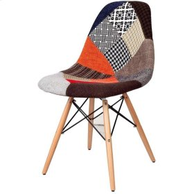 Neo Patchwork Side Chair, Multicolor (Pattern and color vary)