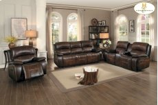 Double Reclining Love Seat with Center Console Product Image