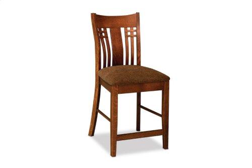 "Bradley Stationary Barstool, Bradley Stationary Barstool, 24""h, Fabric Seat"