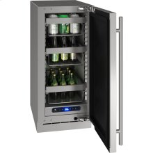 """5 Class 15"""" Refrigerator With Stainless Frame Finish and Field Reversible Door Swing (115 Volts / 60 Hz)"""