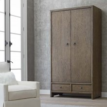 Burley Brown Peninsula Armoire