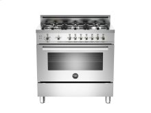 36 6-Burner, Gas Oven LP Stainless