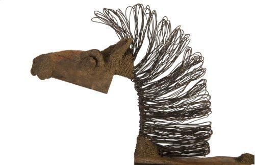 Wire Horse Sculpture, Big Body