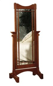 """Mission Oak"" Cheval Mirror Product Image"