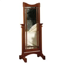 """Mission Oak"" Cheval Mirror"