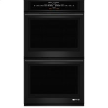 """30"""" Double Wall Oven with V2™ Vertical Dual-Fan Convection System, Black Floating Glass w/Handle"""