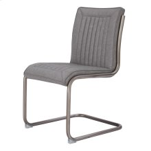 Cooper PU Chair Silver Frame, Antique Graphite Gray