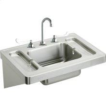 "Elkay Stainless Steel 28"" x 20"" x 7-1/2"", Wall Hung Lavatory Sink Kit"