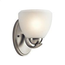 Calleigh Collection Calleigh 1 Light Wall Sconce in Brushed Nickel