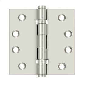 "4""x 4"" Square Hinges, Ball Bearings - Polished Nickel"